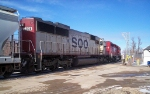 SOO 6008 trails behind an SD40-2